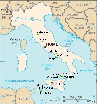 Mount Vesuvius Map