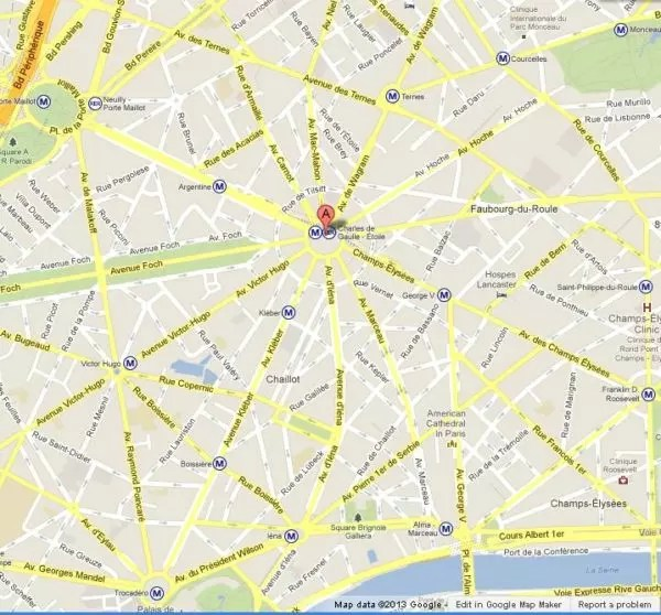 where is arc de triomphe