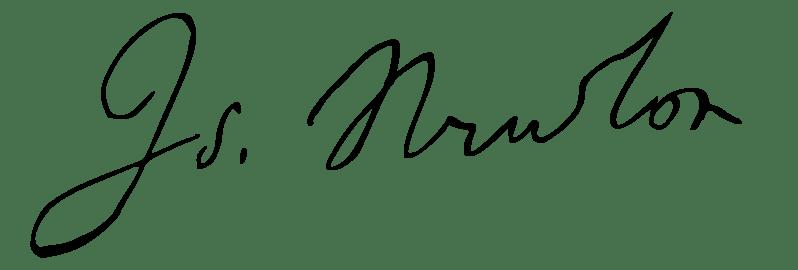 newton signature