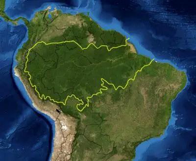amazon rainforest map