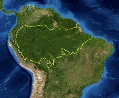 amazon rainforest map
