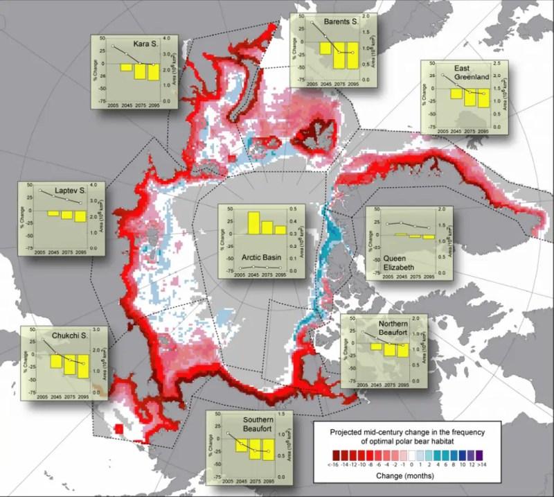 polar bear habitat map