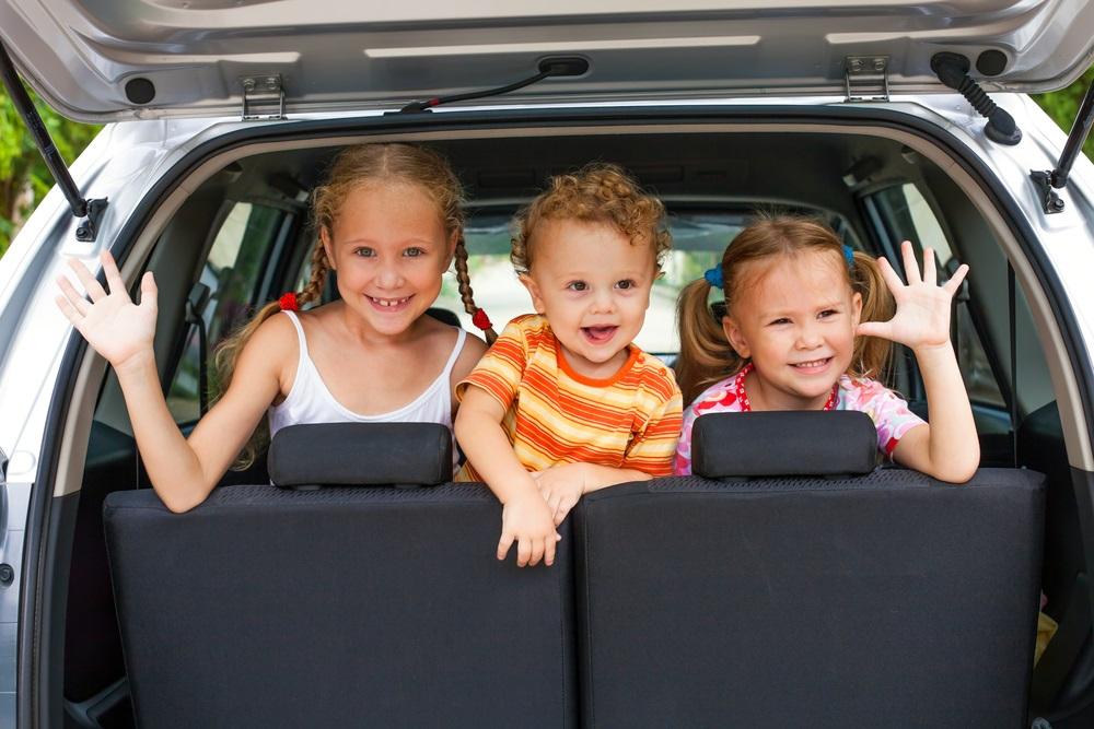 Kinder spelletjes in de auto