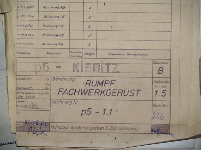Kiebitzrundflug Strausberg - Doppeldecker Bauplan