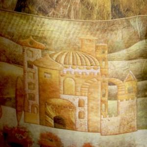 Silk Jewish City Gold Prayer Shawl