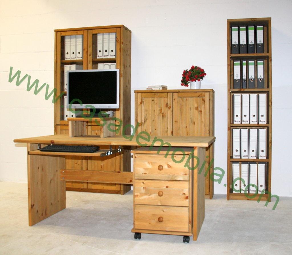 Büromöbel Massivholz Kiefer Schmaler Gewachster Beistelltisch Aus