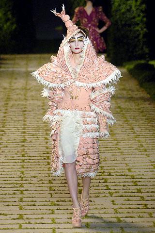 Galliano pink dress