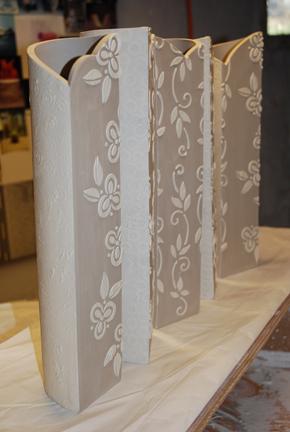 Kristen Kieffer screen vases in progress