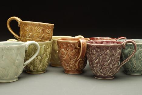 Kieffer cups w. animals