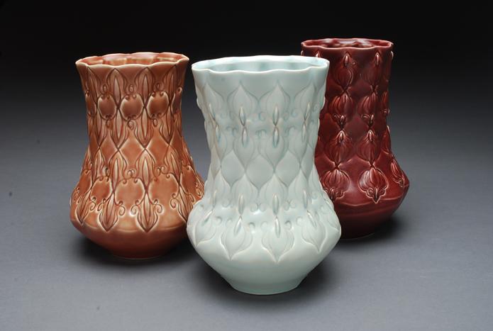 Kristen Kieffer Stamped vases