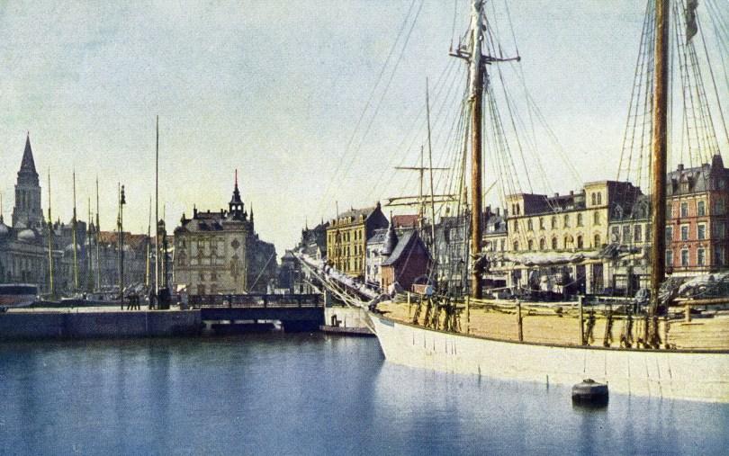 1915 Bootshafen um 1915