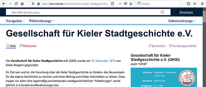 Seite der Gesellschaft im Kiel-Wiki