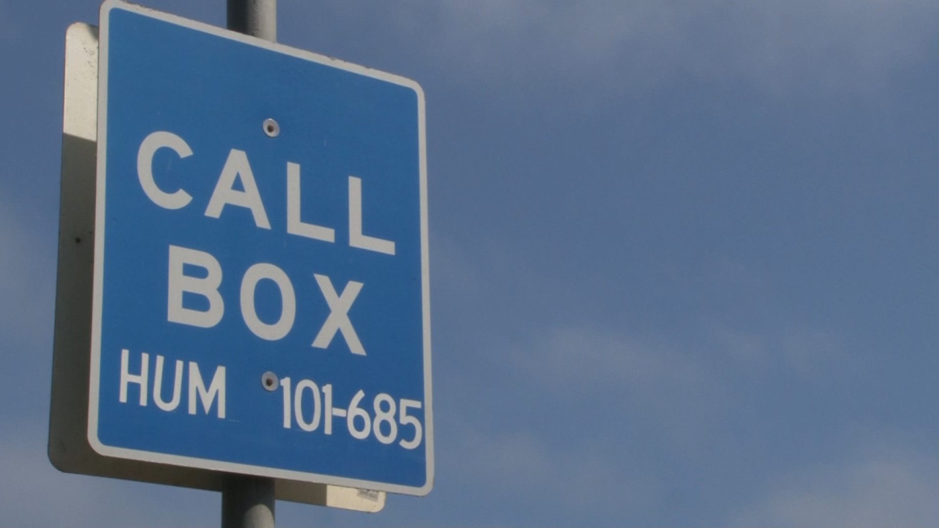 Emergency call box use continues in the cell phone age  KIEMTV  Redwood News