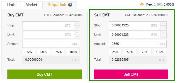 Stop – Limit trên sàn giao dịch Binance 6