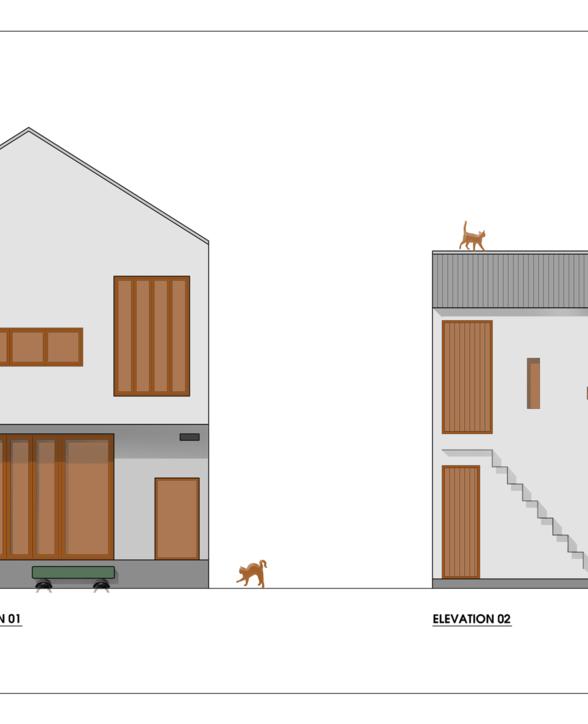 Mặt đứng công trình / Ảnh (c) Adrei-studio Architecture