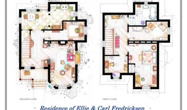 15 UP-Ellie-and-Carl-Fredricksen-House-Floor-Plans-600x473