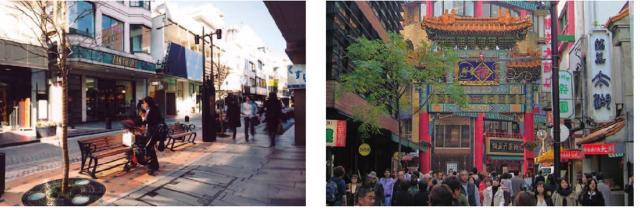 Khung cảnh khu phố 1960 được phục dựng và hiện đại hóa (phố mua sắm Motomachi) và Khu phố người Hoa ở Yokohama đang là những địa điểm hấp dẫn người dân địa phương cũng như du khách.