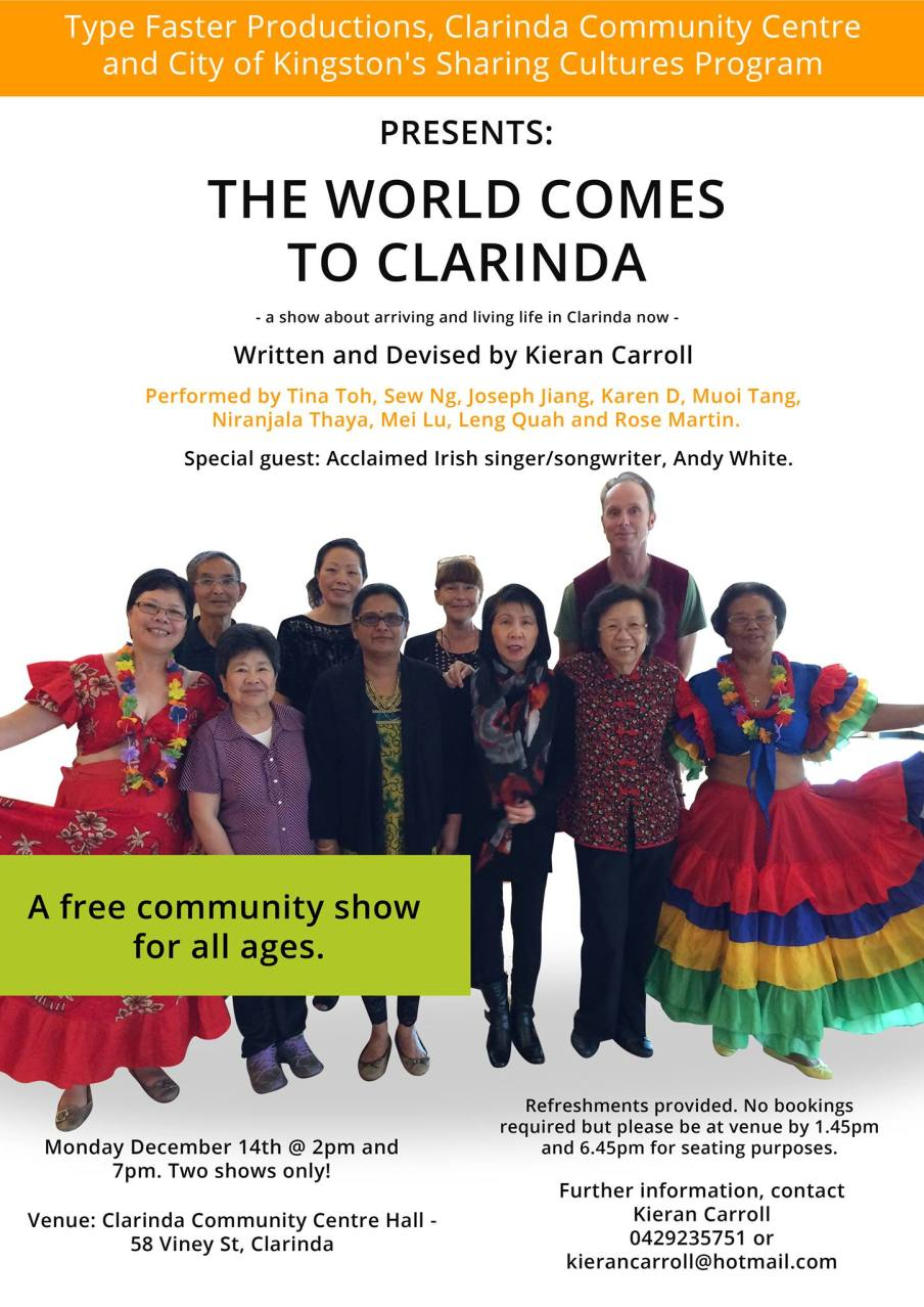 The World Comes To Clarinda Show Poster jpg