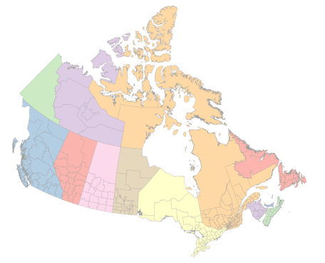 Colored Map Of Canada.Canada Map R Bloggers