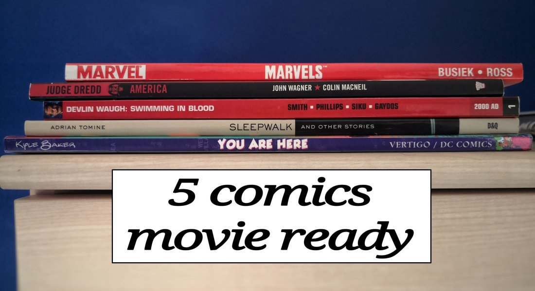 5 comics movie ready