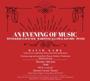 Solo Recital with Gamal Khamis @ Keynote Theatre