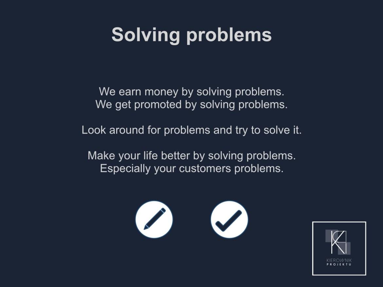 Wskazówka: Solving problems