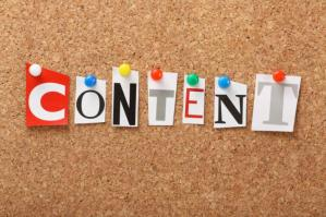 Creating content for your new website.