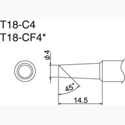 Hakko T18-C4 Solder Tip