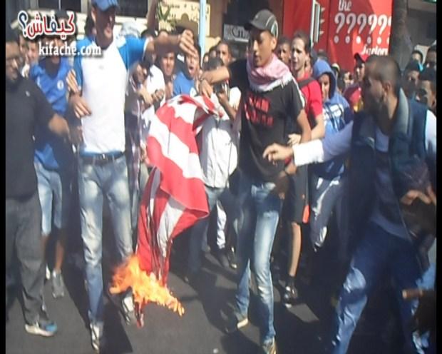 القنصلية الأمريكة في كازا.. البوليس أكثر من المتظاهرين (فيديو حصري)