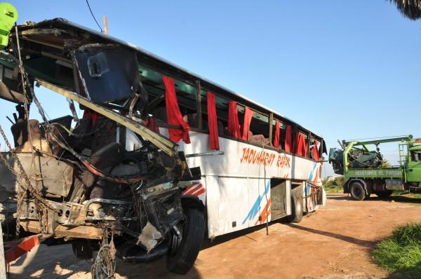 حافلة سقطت في منحدر ضواحي الرشيدية.. قتيلان و22 جريحا