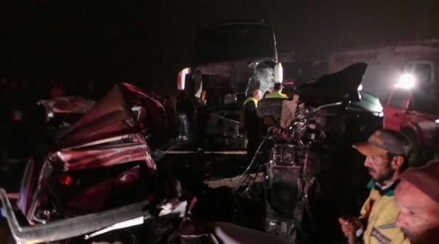 الجديدة.. حادث خطير يودي بحياة 6 أشخاص وجرح 24 آخرين