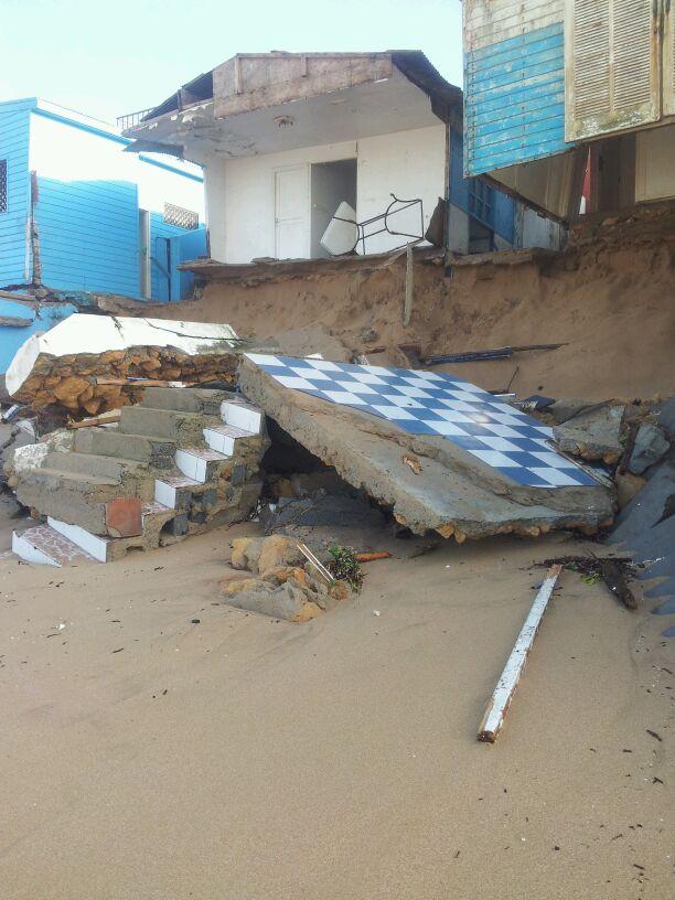بعد العاصفة البحرية.. الخراب في بوزنيقة وسلا (صور)