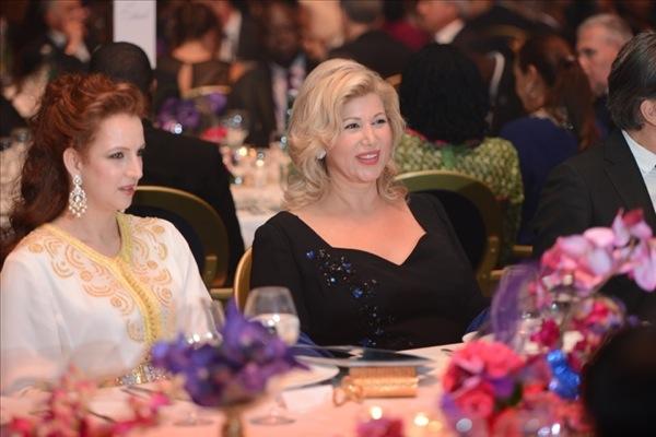 بالصور.. الأميرة لالة سلمى في حفل عشاء خيري في أبيدجان
