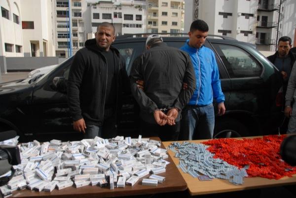 كازا.. القبض على جزائري يروج القرقوبي (صور)