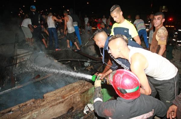 إنزكان.. حريق في سوق الثلاثاء