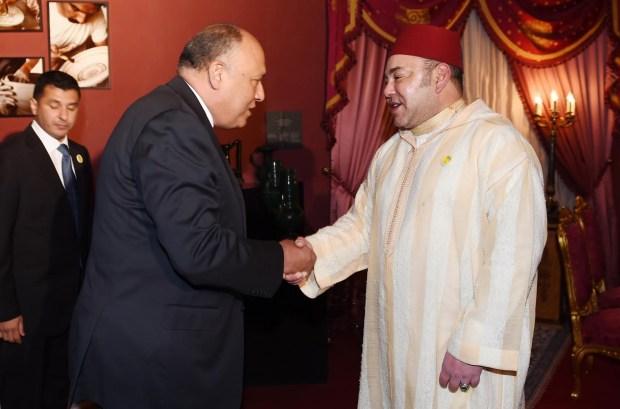 فاس.. الملك يستقبل وزير الخارجية المصري