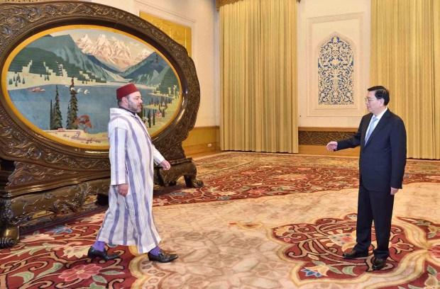 الصين.. الملك يستقبل رئيس البرلمان