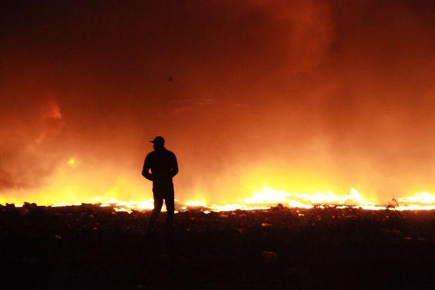 الهراويين/ كازا.. حريق في سوق للمتلاشيات (صور)