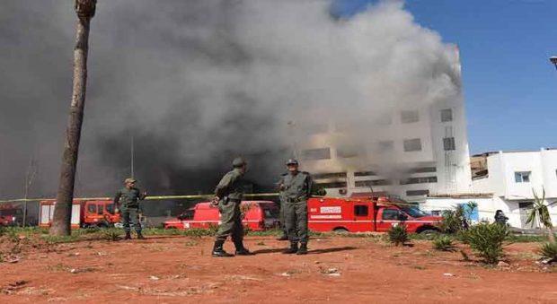 نزلاء نقلوا إلى المستشفى.. حريق في سجن عكاشة