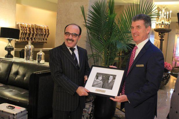 """فندق """"ماي فلاور"""" في واشنطن.. العماري يخلد الذكرى الستين لزيارة محمد الخامس لأمريكا"""