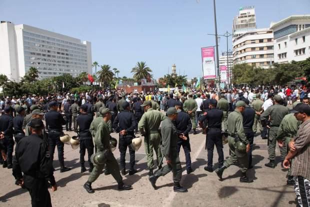 """بالصور.. منع مسيرة حركة """"تاوادا ن إيمازيغن"""" في كاز"""