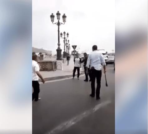 بالفيديو من طنجة.. البوليس شدو واحد هز عليهم سيف