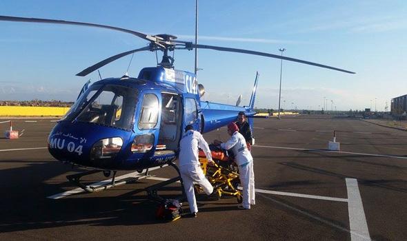بواسطة مروحية طبية.. نقل مصاب في حادثة سير من بولمان إلى فاس