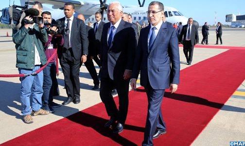 كان في استقباله العثماني.. الوزير الأول البرتغالي يصل إلى المغرب