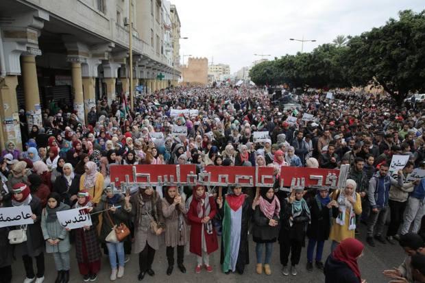 روبورتاج مصور.. مشاهد من مسيرة التضامن مع فلسطين