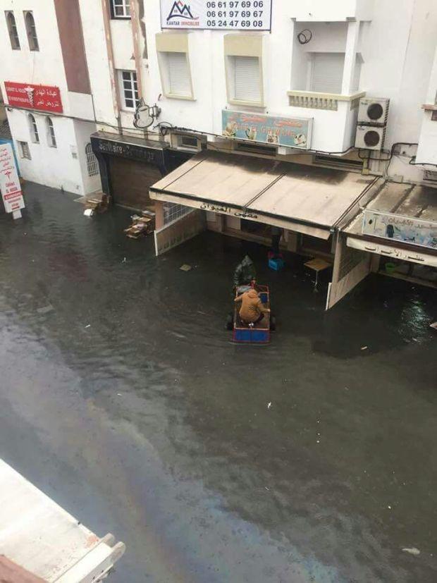 بالصور من الصويرة.. أمطار الخير… والغرق!