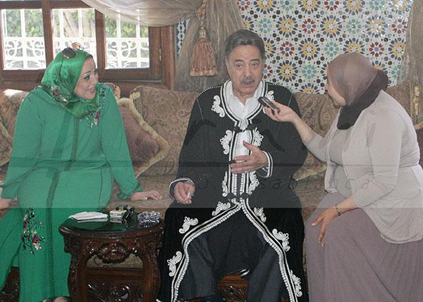 كازا.. فيفي عبدو ويوسف شعبان باللباس المغربي
