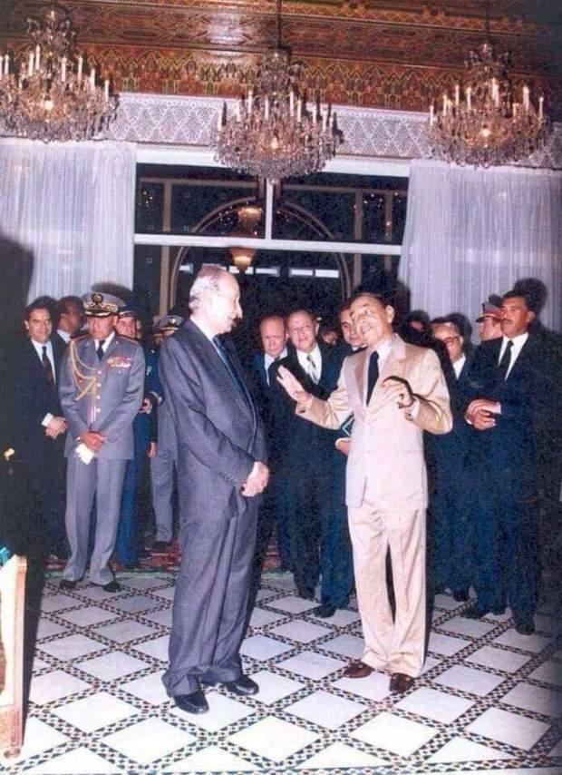أرشيف.. الحسن الثاني مع عبد الرحيم بوعبيد