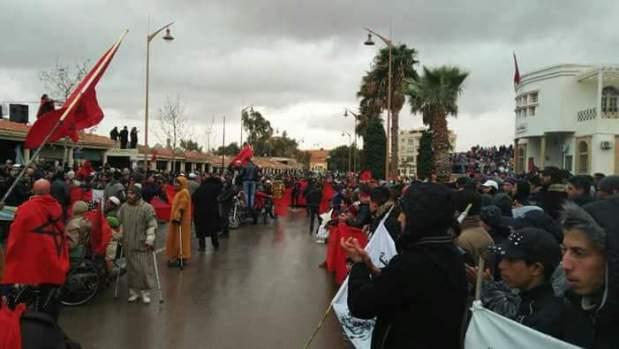 بالصور من جرادة.. إضراب عام ومسيرات متفرقة