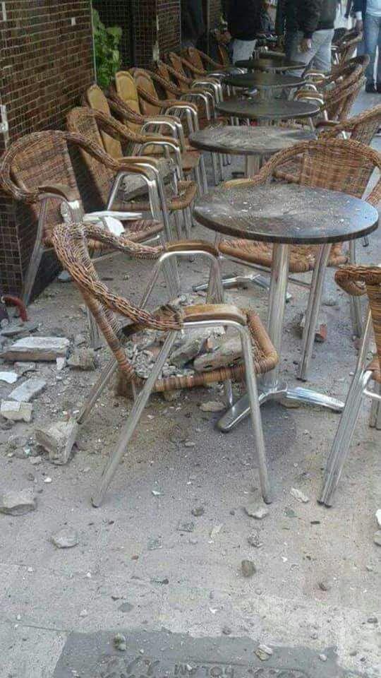 بالصور من تطوان.. انهيار جزئي لمبنى سكني